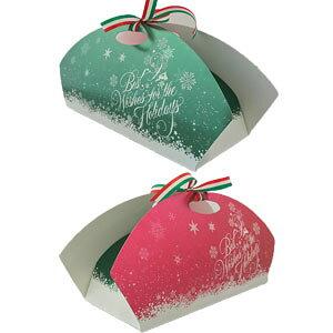 クリスマスケーキ用 箱 スノーフレーク ブッシュドノエル ロールケーキ シュトーレン 業務用