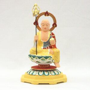 仏像 地蔵菩薩 半跏座像 3.5寸 桧木彩色 お地蔵様 お地蔵さん
