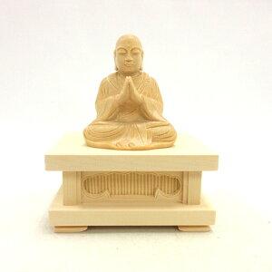 仏像 地蔵菩薩 合掌形 座像 2.0寸 四角台座 桧木 お地蔵様 お地蔵さん