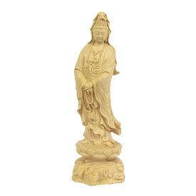 仏像 観音菩薩 立像 高さ23cm 水柘植 観音像 観世音菩薩 観自在菩薩 六観音