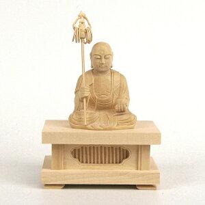 仏像 地蔵菩薩 座像 2.0寸 四角台座 桧木 お地蔵様 お地蔵さん