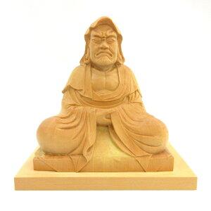 仏像 達磨大師 座像 3.5寸 総高15cm 柘植