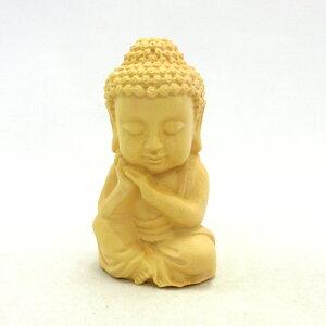 仏像ミニブッダ感謝9cm水柘植如来仏陀釈迦如来ギフトプレゼント小型置物インテリア