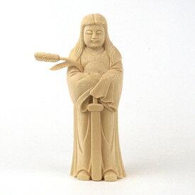 神像 豊受大神(トヨウケノオオカミ/トヨウケビメ)15cm桧木
