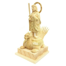 仏像 妙見菩薩 立像 乗亀像 玉眼入 6.0寸 桧木切金付 北辰妙見菩薩