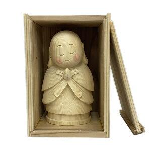 仏像 お地蔵さん 杉箱付き 15cm 桧木 お地蔵様 おじぞうさん 置物 縁起物 地蔵菩薩 ギフト プレゼント