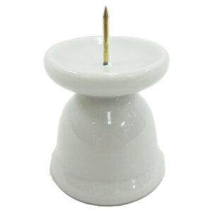 ローソク立て ろうそく立て 丸型 高さ6cm 陶器製