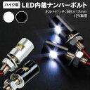 LED ナンバーボルト ボルト型LED ナンバーボルト 平面 アルミ削り出し 3chips SMD シルバー ブラック 選択制(ネコポス…