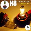 ハロゲンバルブ H8 フォグランプ用 12V/35W イエロー 2個セット (送料無料)