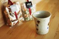 美濃焼ミニカップ(玉紋)湯呑/お茶/コーヒー/ミニ/カップ/陶器/来客用