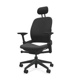 スチールケース リープヘッドレスト APモデル ブラックフレーム LEAP-10110 肘付き ランバーサポート付き Steelcase オフィスチェア オフィスチェア オフィス家具 正規代理店 事務椅子 ワークチェア