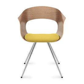 【クーポンあり】ZUCO社 ボニート BN542 木製チェア 座クッション スチール脚 BONITO Dauphin design group