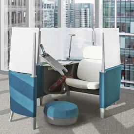 スチールケース 大人の秘密基地 ブロディワークラウンジ+エクステンション Steelcase Brody Work Lounge Extension 13色 オフィスチェア 集中用スペース 企業向け個室 アンクレイブ 書斎 テレワーク