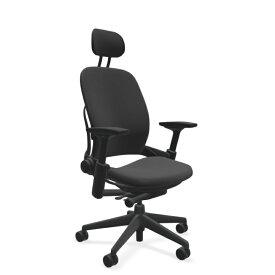 スチールケース リープヘッドレスト USモデル クロス張り 肘付き ランバーサポート ブラックフレーム 13色 K-46216179/6205 Steelcase オフィスチェア LEAP オフィスチェア オフィス家具 正規代理店 事務椅子