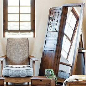 「ソーレ ドアミラー」スタンドミラー 鏡 ドア扉付き鏡 姿見 天然木 杉 玄関 オシャレ 天然木 飛散防止ミラー デザイン まで TSM-13 azumaya 東谷