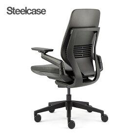 Steelcase ジェスチャー シェルバック型 442A30BB ブラックシェル/ブラックフレーム 11色 Gesture オフィスチェア 肘付き 座面クロス 360度可動アーム パソコンチェア リクライニング 腰痛 疲れにくい おしゃれ くろがねっと 送料無料