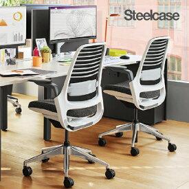 丈夫なスチールケース社製 首・腰が疲れにくい 機能充実 オフィスチェア シリーズワン シーガルフレーム アームなし ランバー付き 435A00SN 11色 メッシュチェア steelcase series1 office chair ランバーサポート