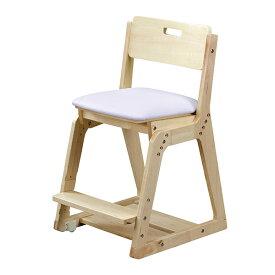 くろがね学習チェア WDC20型 木製イス 座面PVC張タイプ 木製チェア 学習椅子 天然木 座面高さ調節4段階 座面前後奥行きスライド調節 足置き高さ3段階調節 沈み込みキャスター