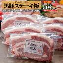 お中元 ステーキ ギフト ステーキ肉 送料無料 リブロース 黒豚 上ロース ステーキソース 豚肉 希少 鹿児島 贈り物 プ…