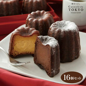 東京カヌレ バニラ味&生チョコ味 16個セット 父の日 お誕生日 ギフト に 大人気 フランス 焼菓子 かわいい 猫 個包装 スイーツ