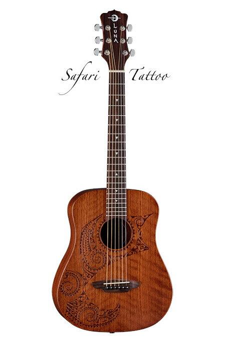 Luna Guitars Safari Series Tattoo [SAF TAT]《アコースティックギター》【送料無料】【ご予約受付中】【ONLINE STORE】
