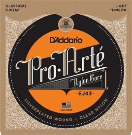 D'Addario EJ43 Pro-Arte Nylon, Light Tension《クラシックギター弦》 【ネコポス】