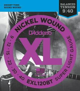 D'Addario EXL120BT XL Balanced Tension (09-40)《エレキギター弦》【10セット】