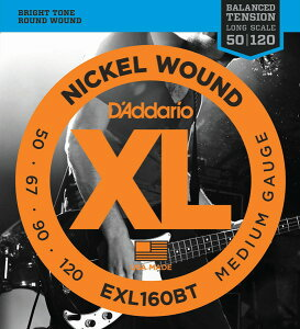 D'Addario EXL160BT XL Balanced Tension (50-120)《ベース弦》【10セット】 【送料無料】