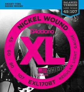D'Addario EXL170BT XL Balanced Tension (45-107)《ベース弦》 【ネコポス】