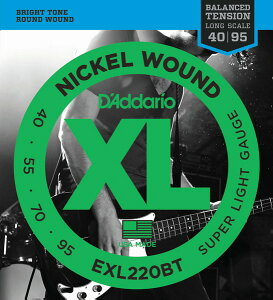 D'Addario EXL220BT XL Balanced Tension (40-95)《ベース弦》 【ネコポス】