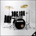 MAXTONE MX-116DX (JET BLACK)《お薦め入門ドラムセット》【送料無料】