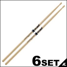 PRO-MARK ドラムスティック ヒッコリー 7A TX7AW WoodTip (416 x 13mm) [TX7AW]【6セット】【ONLINE STORE】