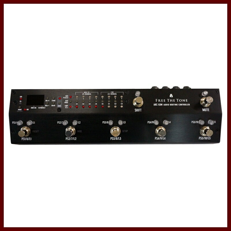 Free The Tone ARC-53M AUDIO ROUTING CONTROLLER (Black) 《スイッチャー》【送料無料】【受注生産品】【ONLINE STORE】