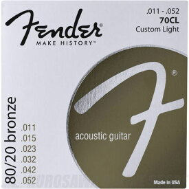 Fender 80/20 Bronze Acoustic Strings, Ball End, 70CL .011-.052 Gauges, 《アコースティックギター弦》【ネコポス】【ONLINE STORE】