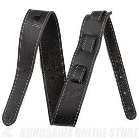 Fender Monogram Leather Strap, Black【ONLINE STORE】