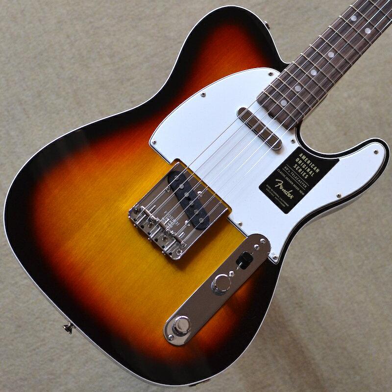 【新品】Fender American Original '60s Telecaster 〜3-Color Sunburst〜 #V1861104 【軽量3.14kg】【ラッカーフィニッシュ】【9.5インチラジアス指板】【ヴィンテージ・トールフレット】【送料無料】【池袋店在庫品】