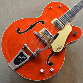 【新品特価】Gretsch G6120SSL Brian Setzer Nashville / Orange Lacquer #JT18073107 【3.22kg】【ラッカーフィニッシュ】【エボニー指板】【TV Jones ピックアップ】【ブライアン・セッツァー・モデル】【送料無料】【池袋店在庫品】