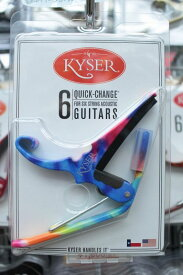 Kyser KG6TD カイザー クイックチェンジ 6弦アコースティックギター用カポ (Tie-Dye / タイダイ) [WEB特価]《カポタスト》【クロサワ楽器池袋店WEB SHOP】