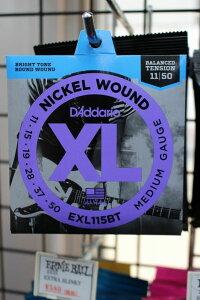 D'Addario EXL115BT XL Balanced Tension (11-50)[WEB特価]《エレキギター弦》【新品】【クロサワ楽器池袋店WEB SHOP】