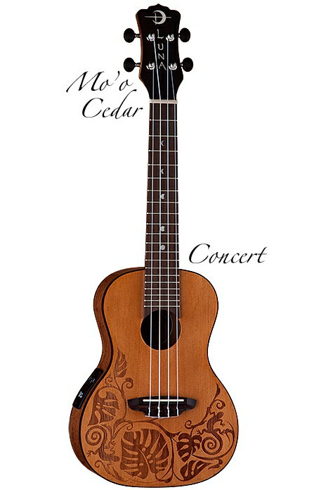 Luna Guitars Mo'o Concert Cedar [UKE MO CDR] 《コンサートウクレレ》【送料無料】【ONLINE STORE】