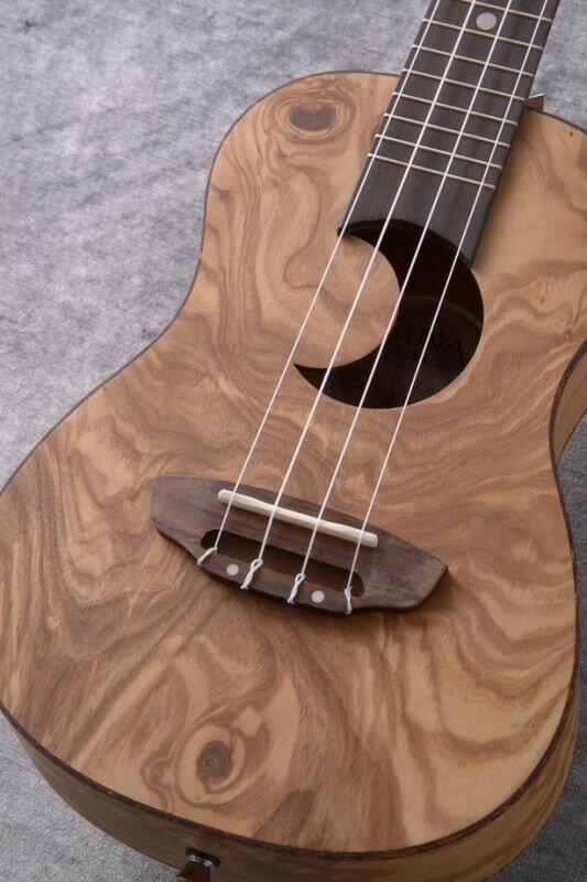 Luna Guitars Uke Exotic Concert olive ash burl crescent [UKE EX OA] 《コンサートウクレレ》【送料無料】(納期未定・ご予約受付中)【ONLINE STORE】