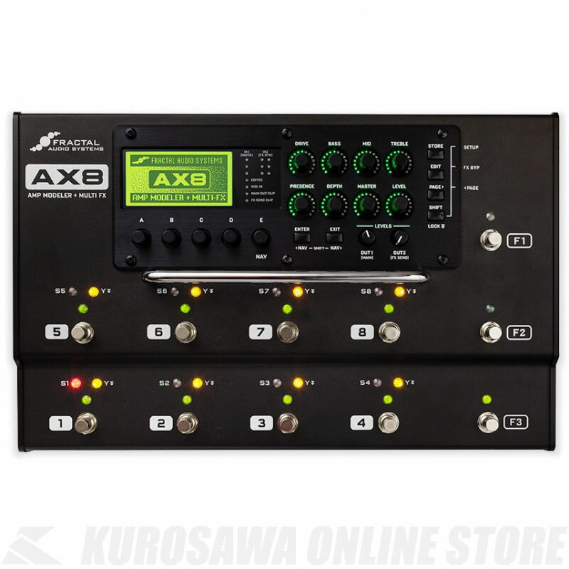 Fractal Audio Systems AX8 《マルチエフェクター》 【送料無料】【ご予約受付中】【ONLINE STORE】