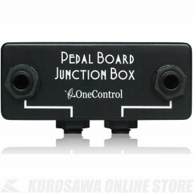 One Control Minimal Series Pedal Board Junction Box(Black)《ジャンクションボックス》(ご予約受付中)【ONLINE STORE】