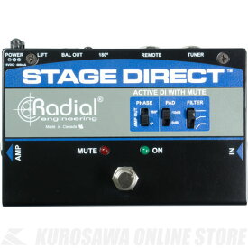 Radial StageDirect Active DI w/Mute《アクティブDIボックス》【送料無料】【ONLINE STORE】