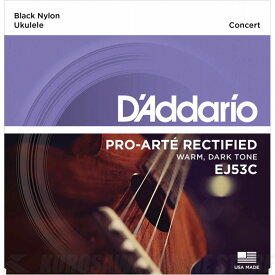 D'Addario Pro-Arte Rectified Ukulele, Concert EJ53C [EJ53C] 《コンサートウクレレ用弦》【ネコポス】