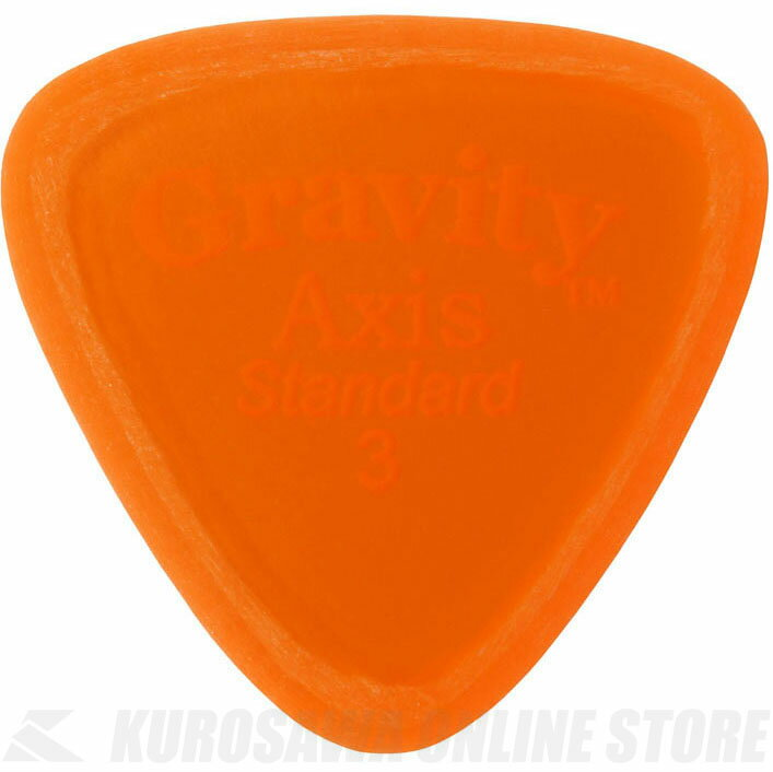GRAVITY GUITAR PICKS GAXS3M (3.0mm, Orange, Master Finish(Unpolished)) 《ピック》【ネコポス】【ONLINE STORE】