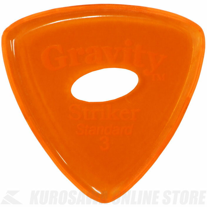 GRAVITY GUITAR PICKS GSRS3PE (3.0 mm with Elipse Grip Hole, Orange) 《ピック》【ネコポス】【ONLINE STORE】