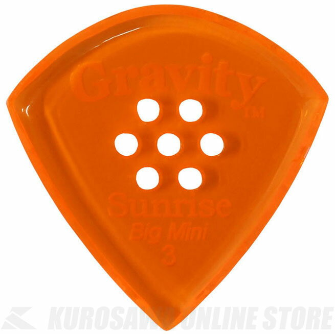 GRAVITY GUITAR PICKS GSUB3PM (3.0 mm with Multi-Hole, Orange) 《ピック》【ネコポス】【ONLINE STORE】