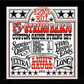 ERNIE BALL #2312 Light 5-String Loop End Stainless Steel Banjo Guitar Strings《バンジョー弦》【ネコポス】【ONLINE STORE】