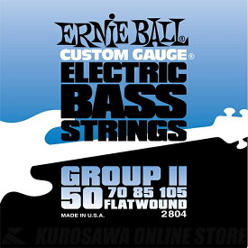 ERNIE BALL #2804 Flatwound Group II Electric Bass Strings《ベース弦》【ネコポス】【ONLINE STORE】